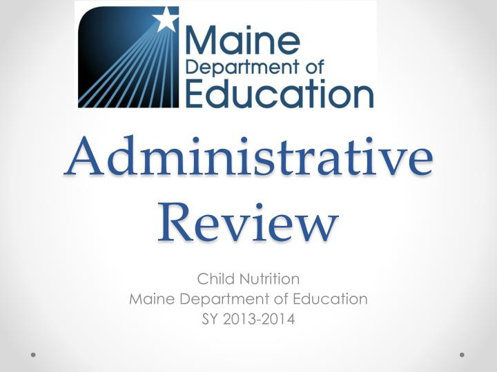administrative review n.