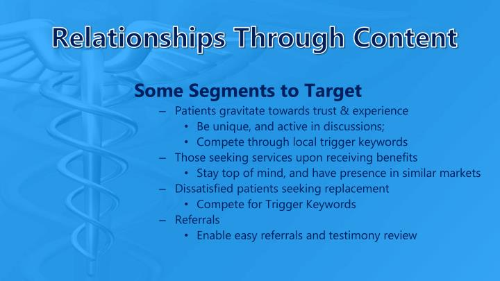 Relationships Through Content