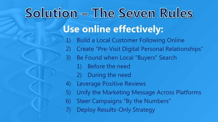 Solution the seven rules