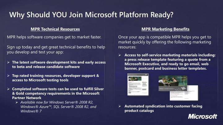 Why Should YOU Join Microsoft Platform Ready?