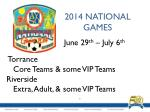 2014 national games