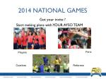 2014 national games1