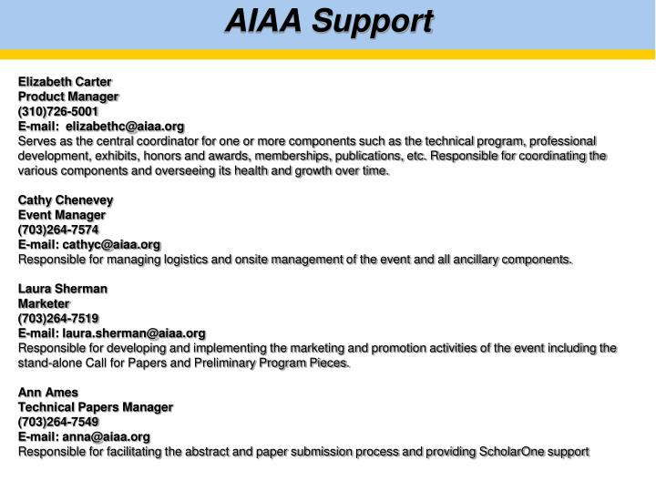 advanced example of aiaa technical conference Technical presenter resources resource files below are links to files useful for individuals who submit abstracts and present technical papers at aiaa forums early in the process, determine the extent of any government or corporate approvals required for your paper, or visa requirements for travel, to preclude late submissions or paper.