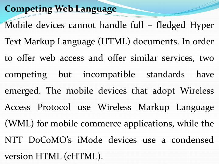 Competing Web Language