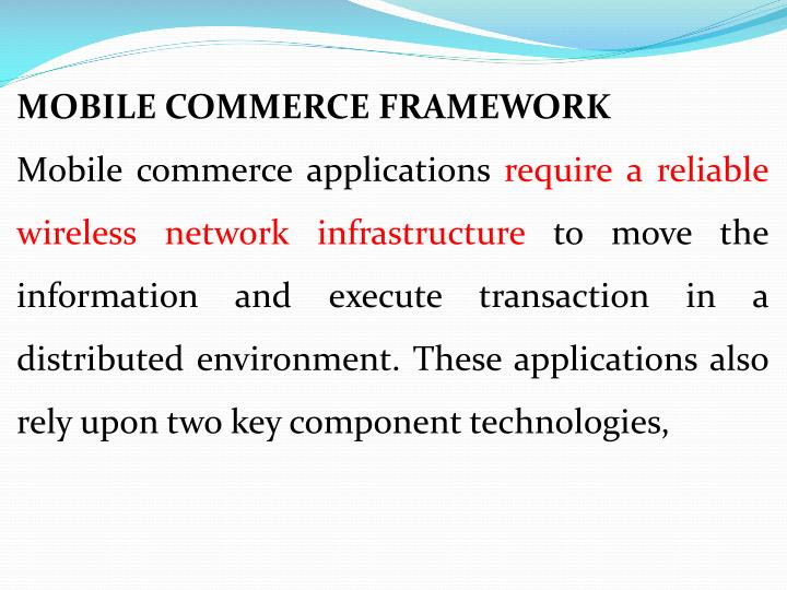 MOBILE COMMERCE FRAMEWORK