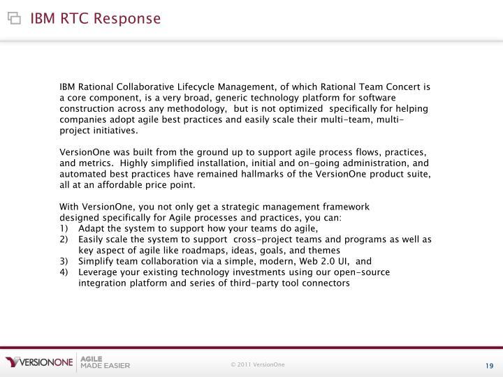 IBM RTC Response