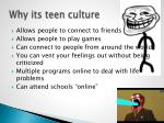 why its teen culture