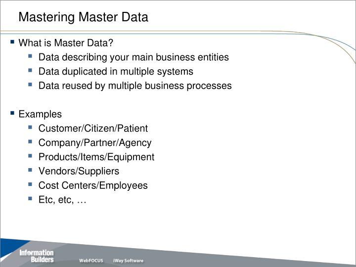 Mastering Master Data