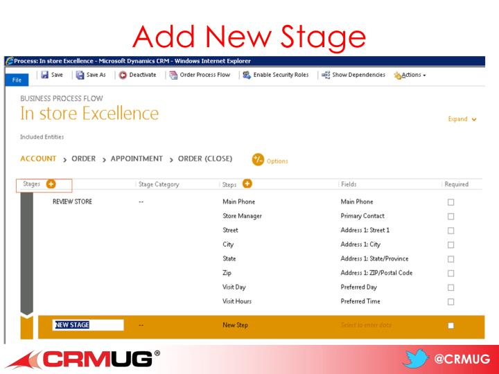 Add New Stage