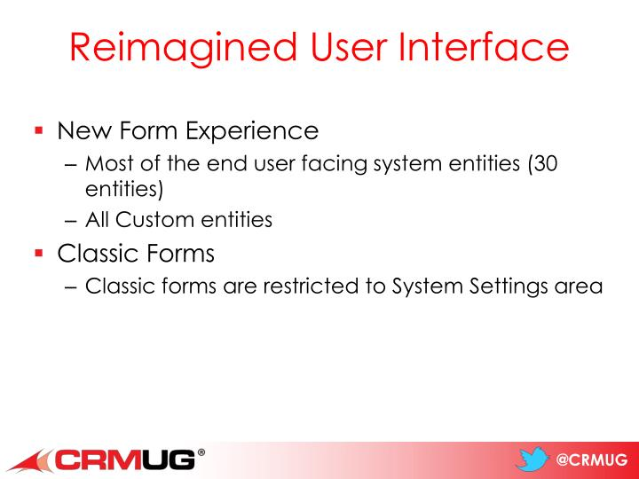 Reimagined User Interface