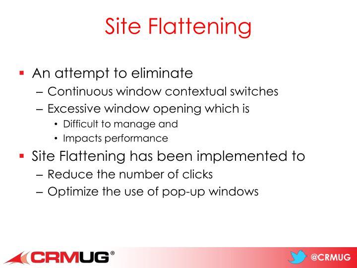 Site Flattening