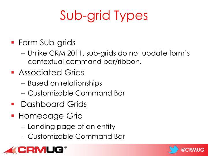 Sub-grid Types