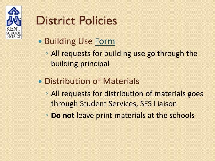 District Policies