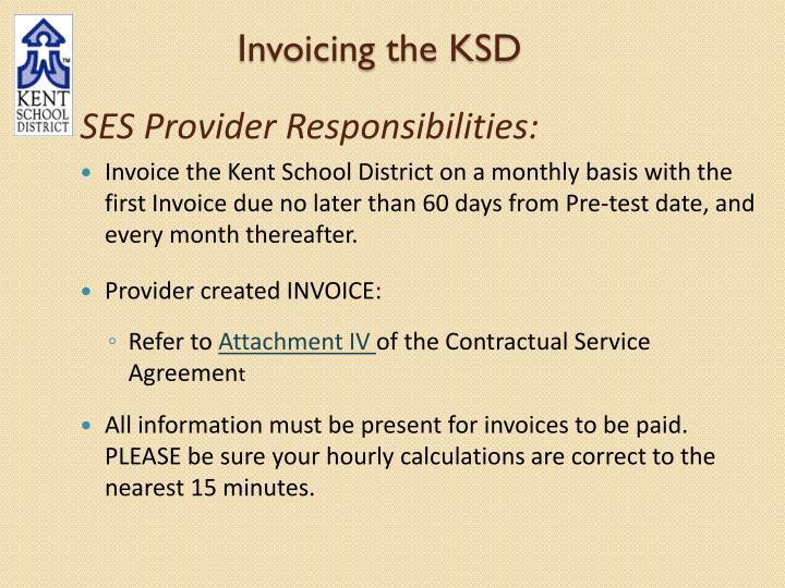 Invoicing the KSD