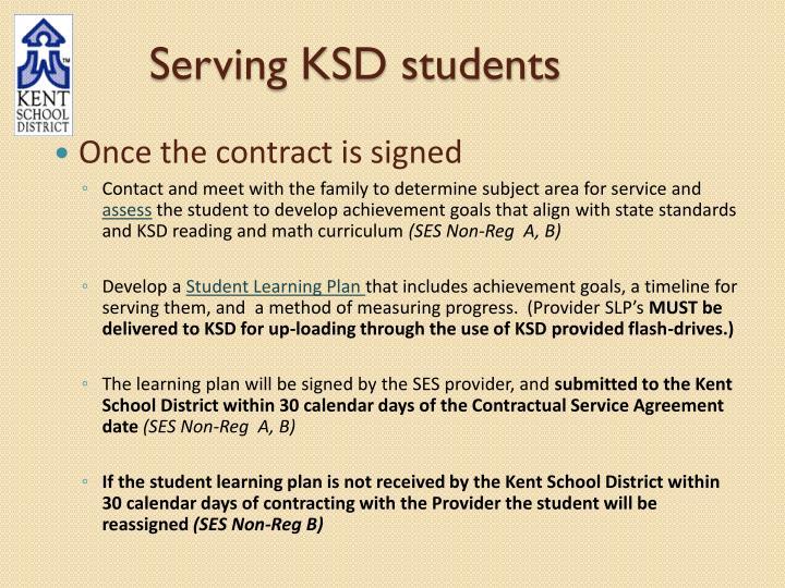 Serving KSD students