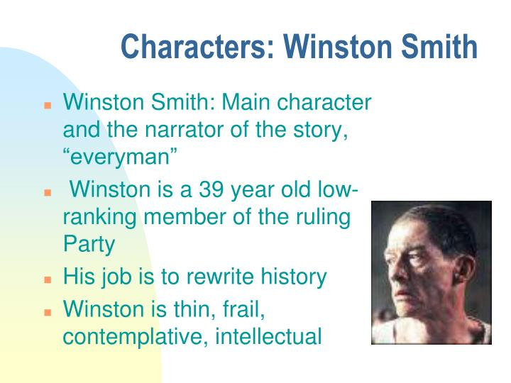 1984 character analysis of winston smith Ver vídeo winston smith is a party worker - part of the vast social caste known as the outer party,  obviously 1984 is long since gone bye-bye, but 2084 or 2054.