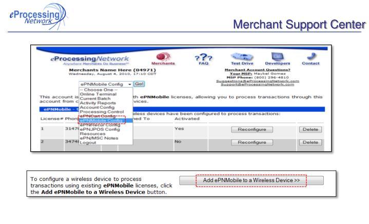 Merchant Support Center