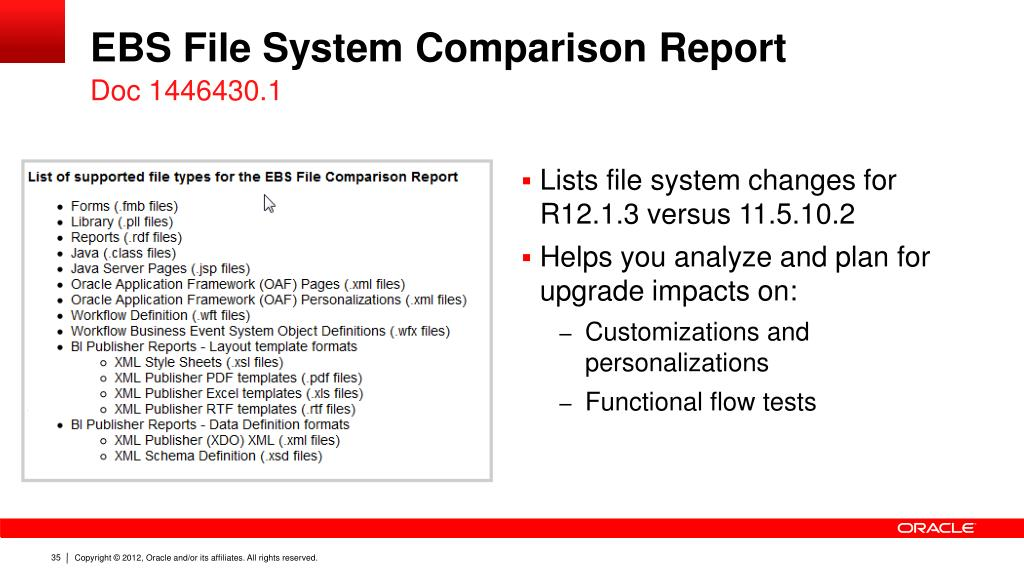 PPT - Oracle E-Business Suite: Technology Highlights and Upgrade