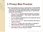 2 privacy best practices