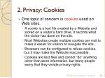 2 privacy cookies