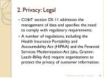 2 privacy legal