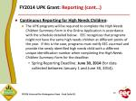 fy2014 upk grant reporting cont