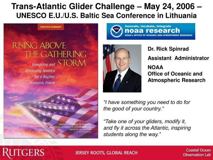 Trans-Atlantic Glider Challenge –