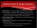 market share target markets