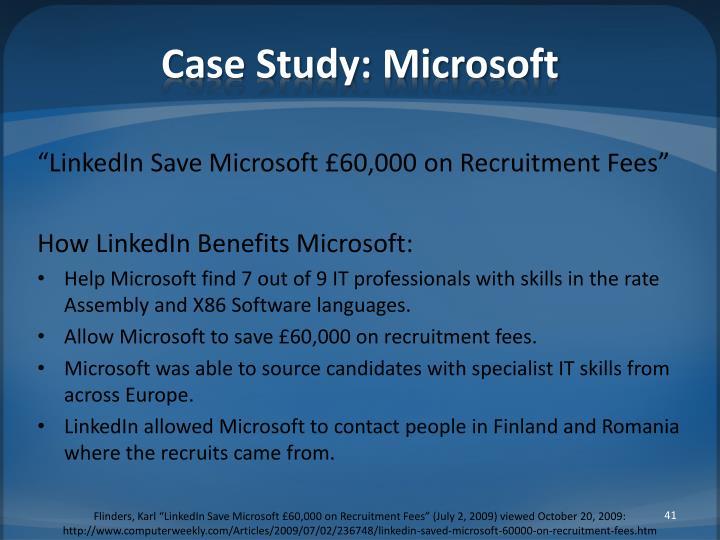 Case Study: Microsoft