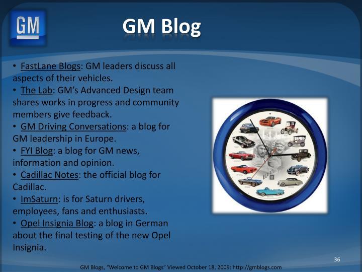 GM Blog
