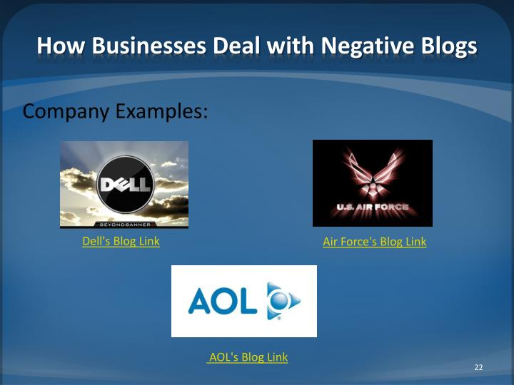 How Businesses Deal with Negative Blogs