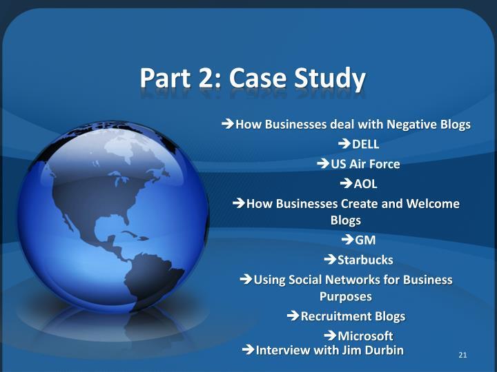 Part 2: Case Study