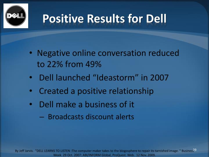 Positive Results for Dell