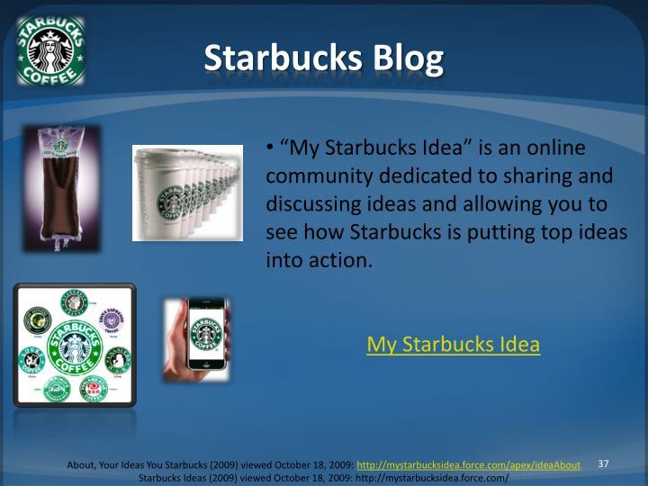 Starbucks Blog