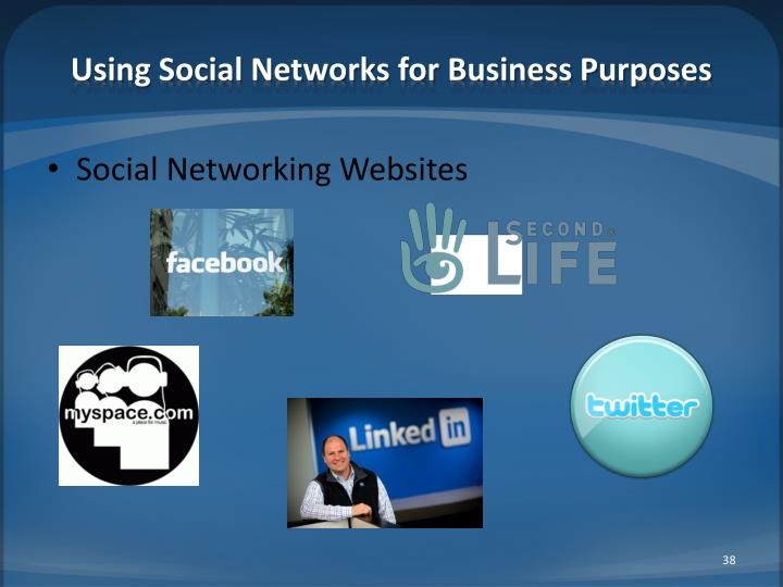 Using Social Networks for Business Purposes