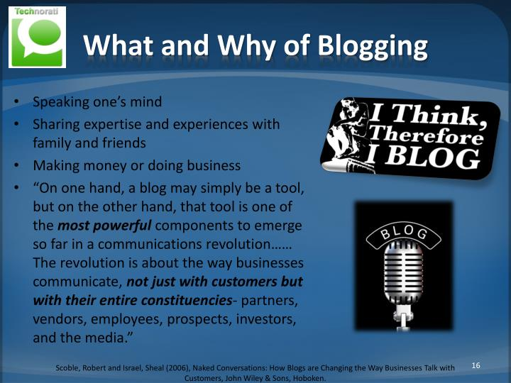 What and Why of Blogging