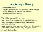 marketing plenary