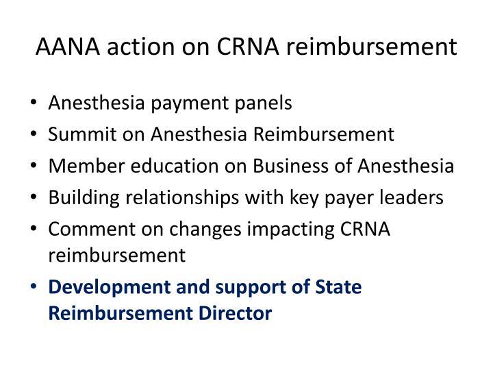 AANA action on CRNA reimbursement