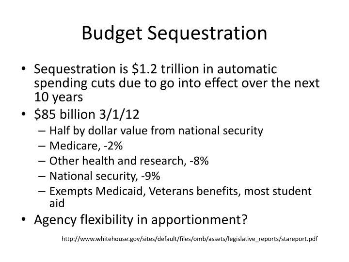 Budget Sequestration