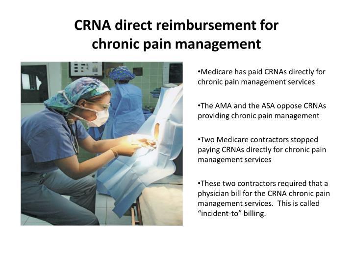 CRNA direct reimbursement for