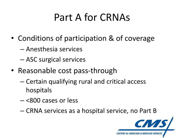 Part A for CRNAs