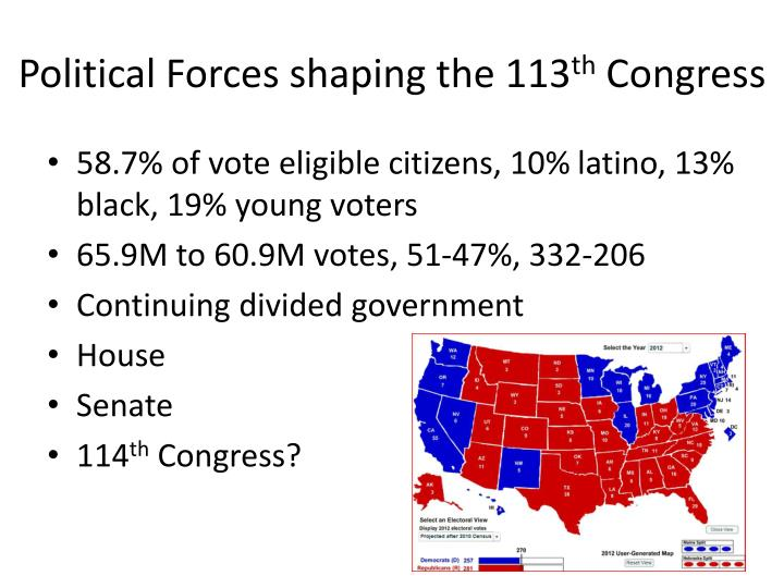 Political Forces shaping the 113