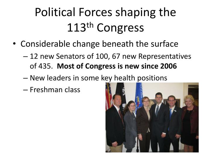 Political Forces shaping the