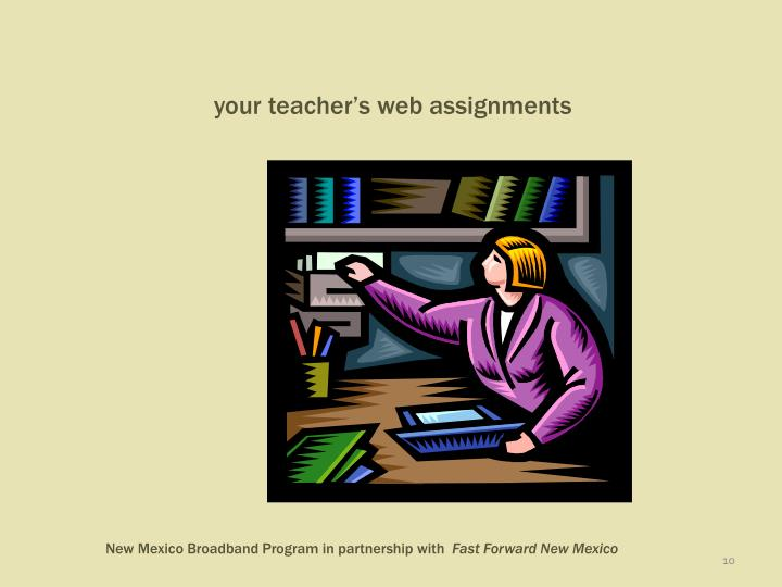 your teacher's web assignments