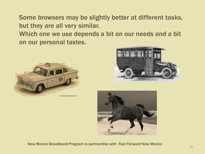 Some browsers may be slightly better at different tasks, but they are all very similar.