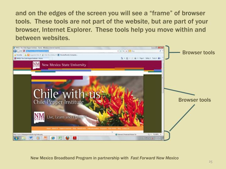 Browser tools