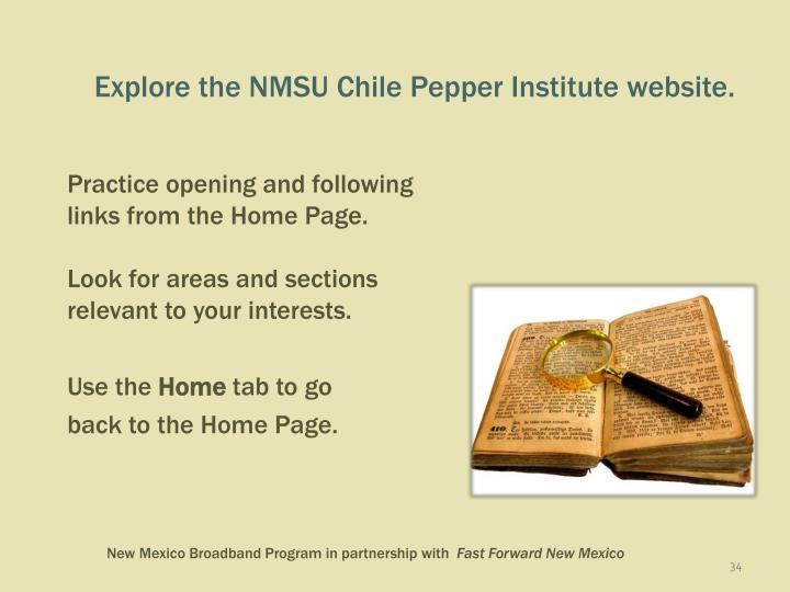 Explore the NMSU Chile Pepper Institute website.