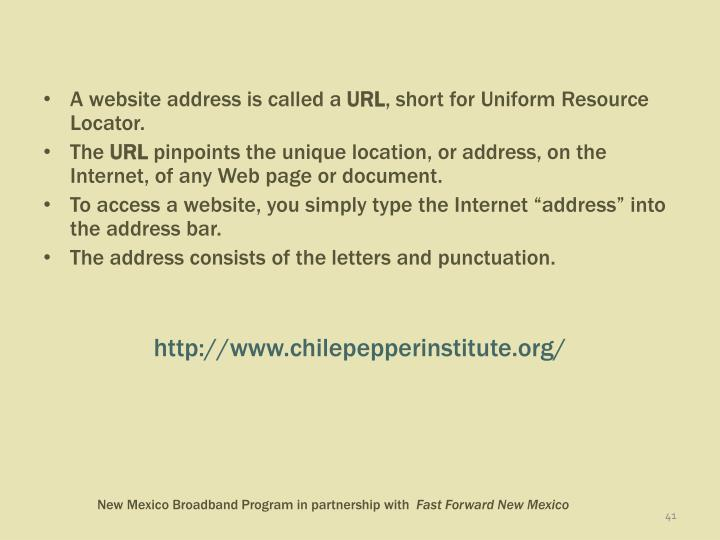 A website address is called a