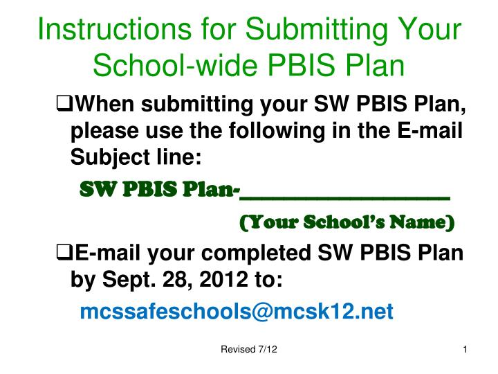 instructions for submitting your school wide pbis plan n.