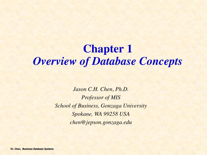chapter 1 overview of database concepts n.